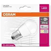 Osram  LED Golfball Frosted ES Light Bulb - 6W