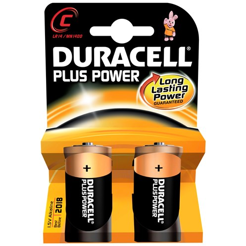 Duracell  Plus Power Batteries - C