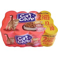Catclub  Tinned Cat Food Variety Pack - 12 x 400g