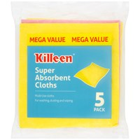 Killeen  Super Absorbent Cloths - 5 Pack