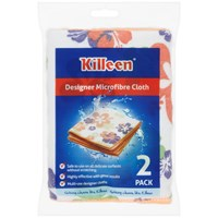 Killeen  Designer Microfibre Cloths - 2 Pack
