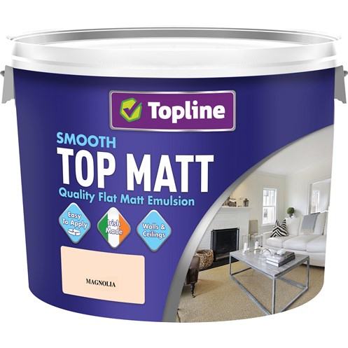 Topline  Smooth Top Matt Magnolia Paint - 10 Litre