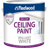 Fleetwood Ceiling Paint Matt Brilliant White Paint - 2.5 Litre