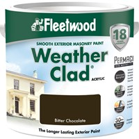 Fleetwood Weather Clad Smooth Masonry Colours Paint - 2.5 Litre