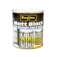 Rustins  Quick Dry Black Paint Matt - 500ml