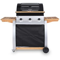 3 Burner Oak Gas BBQ