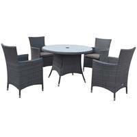 Malaga  Rattan 4 Seater Round Furniture Set