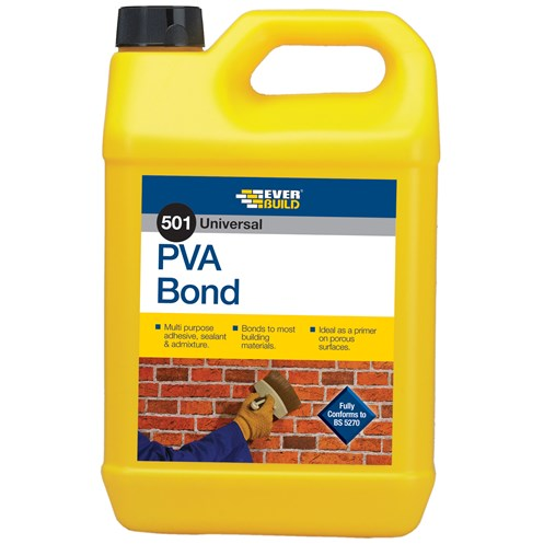 Everbuild  501 PVA Bond - 5 Litre
