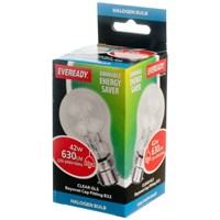 Eveready  Eco Halogen GLS Light Bulb - 42W BC