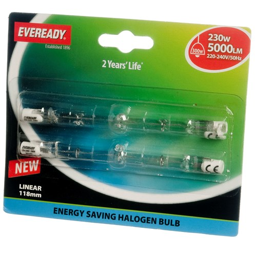 Eveready  Eco Halogen Light Bulb 230W - 2 Pack