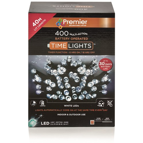 Premier  400 LED Multi-Action Battery Operated Timelights