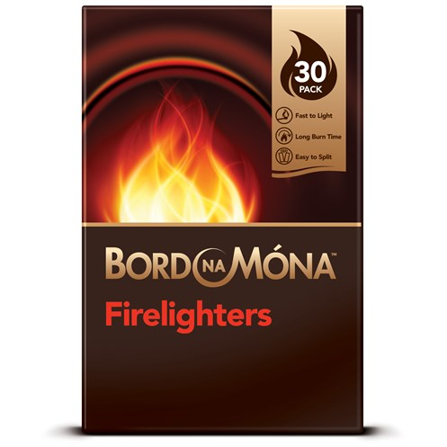 Bord na Móna  Firelighters - 30 Pack