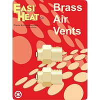 Easi Heat  Brass Air Vent 2 Pack - 1/8in