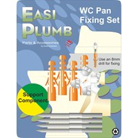 Easi Plumb  Stainless Steel Toilet Pan Fixing Set