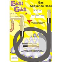 Easi Gas  Ordinary Cooker Hose for Natural Gas - 3' x 1/2in