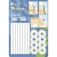 Easi Plumb  Four Radiator Decoration Kit - White