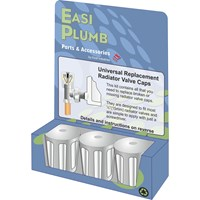 Easi Plumb  Universal Chrome Replacement Radiator Valve Head Set - 3 Pack