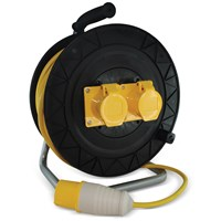 Safeline  Domestic Yellow Artic Cable Reel With 16 Amp Plug - 50 Metre