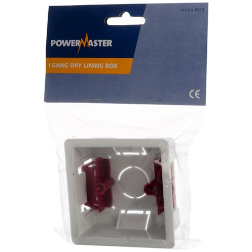 Powermaster  Dry Lining Box - 32mm 1 Gang