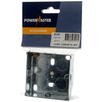 Powermaster  Flush Metal Box - 25mm 1 Gang
