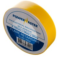 Powermaster  20m PVC Insulating Tape - Yellow