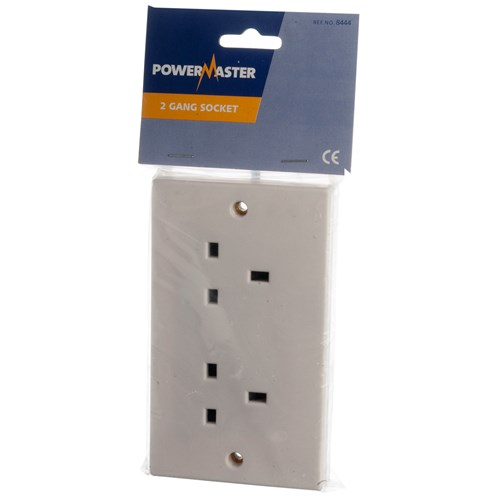 Powermaster  Unswitched Socket - 13 Amp 2 Gang