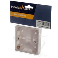 Powermaster  Pattress Box - 16mm 1 Gang