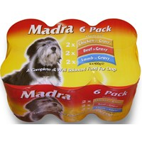 Madra  Multipack Dog Food Chunks - 6 x 400g